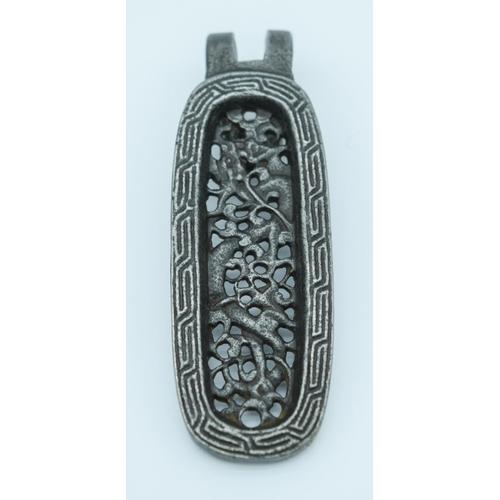 4040 - A  Chinese bronze belt hook 8 cm...