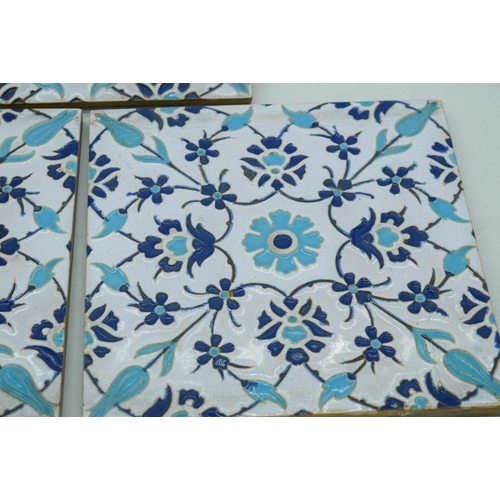 4048 - Three Victorian Arts and Crafts Minton tiles 20 x 20cm (3)....