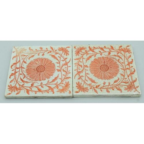 4052 - Two Victorian Minton Transfer printed tiles 15.5 x 15.5cm (3)....
