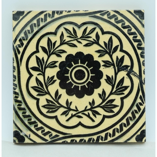 4070 - Two Minton China works tiles 15 x 15 cm (2) ....