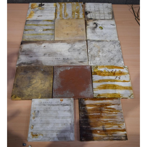 4071 - Collection of Victorian Tiles largest 31 x 16 cm (13)....