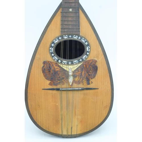 4096 - A  cased Vintage Italian Mandolin maker Giuseppe Casini 61 x 20 cm ....