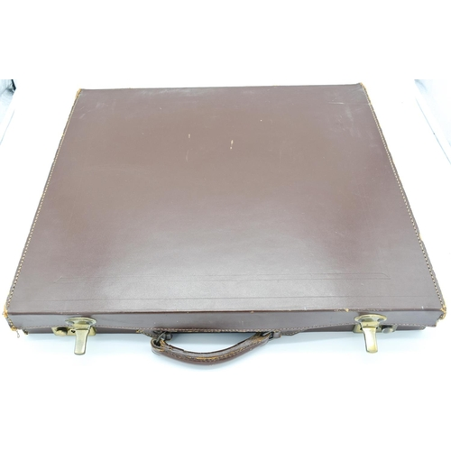 4108 - A Freemasonry related Leather case 52 x 47cm...