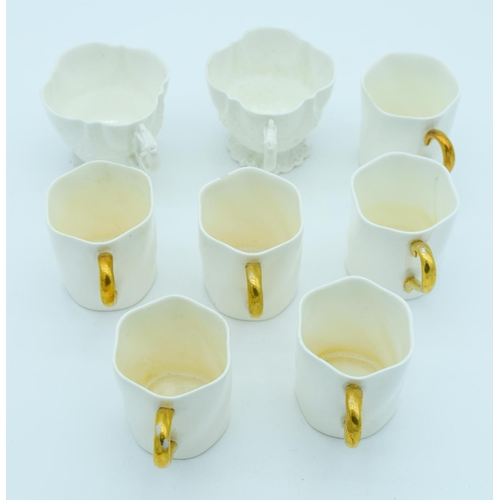 4148 - A collection of Coalport coffee cups and two Ainsley cups (8)....
