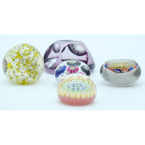 4152 - Collection of Paperweights largest 8 5 cm (5)....