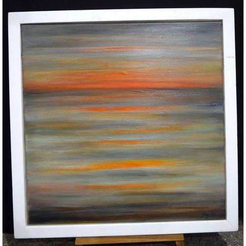 4195 - Nikki d'Aguilar abstract oil on canvas 76 x 76cm....