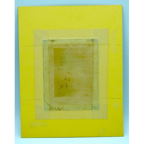 4198 - A small abstract engraving. 8.5 x 12cm ....