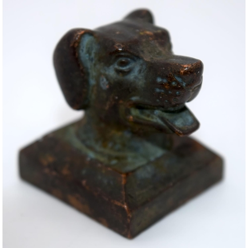 4227 - A group of Chinese bronze seals in the form of animals 4 cm (4)....