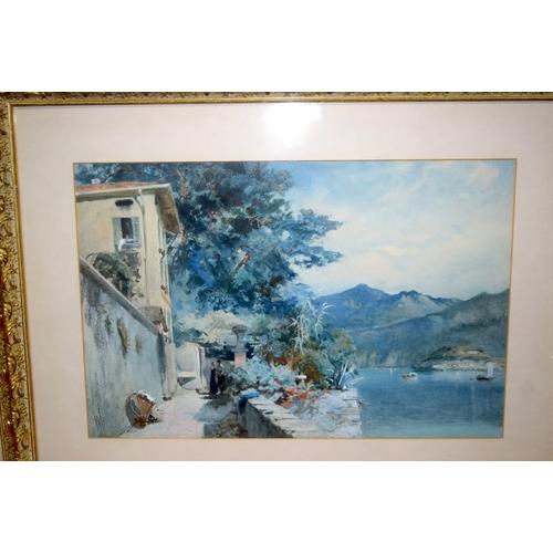 4288 - European school pair of framed Watercolours both coastal scenes 53 x 35 cm (2)....