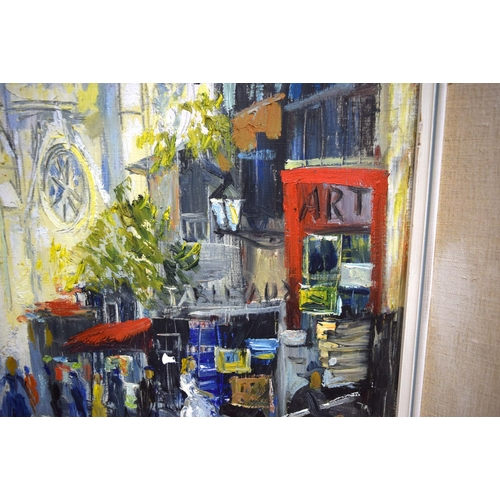 4302 - Framed Oil on canvas of Paris and another print by Woodward 60 x 49cm (2)....