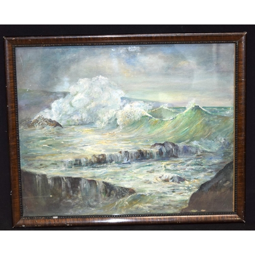 4318 - Framed oil on board of a sea scape  possibly by  Ian MacInnes 1922 – 2003 30 x 37cm...
