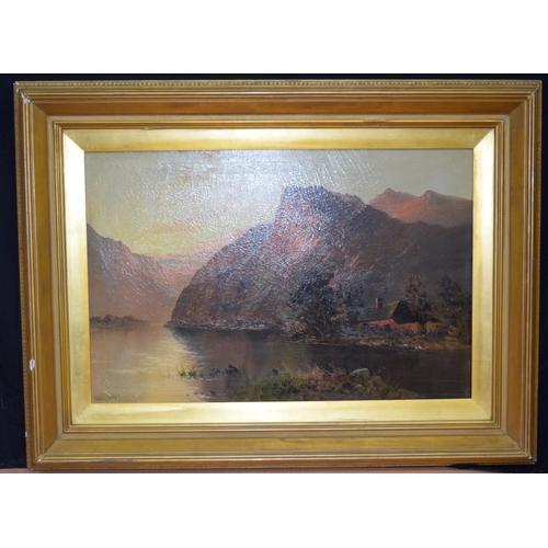 4328 - Aubrey Ramos 1895 -1950 Oil on canvas Scottish Landscape 49 x 74cm...