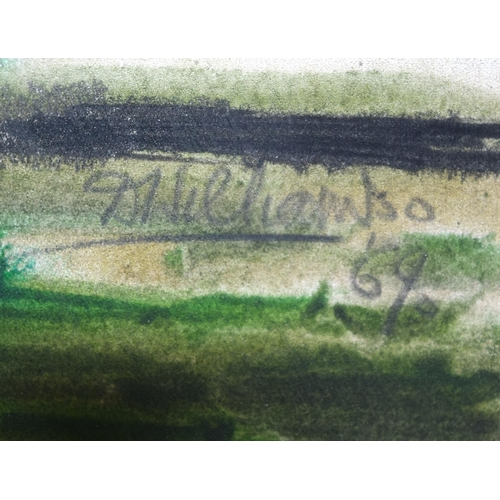 4335 - A framed watercolour of a Marshland by D Williams 38 x 58cm....