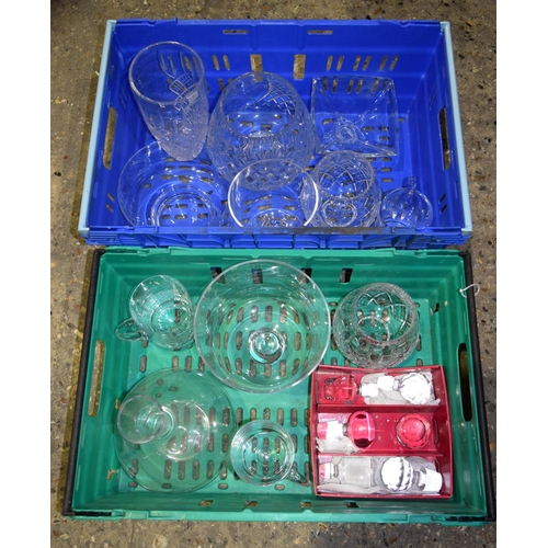4362 - A large collection of lead crystal glass articles mostly Krosno and Crystalite Bohemia Qty....