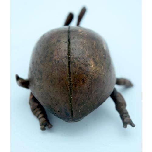 4380 - A Small Japanese bronze ladybird 5cm....