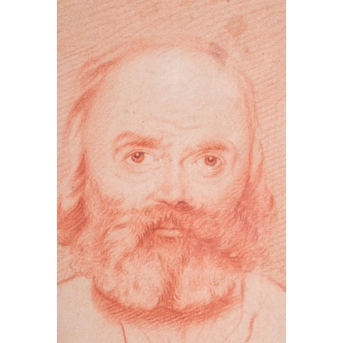 446 - Continental School (19th Century) Sketch, Bearded male. Image 27 cm x 17 cm....