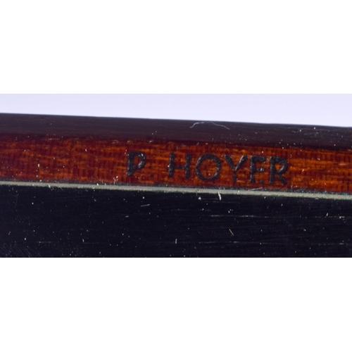 467 - A GERMAN VIOLIN BOW by P Hoyer. 73 cm long....