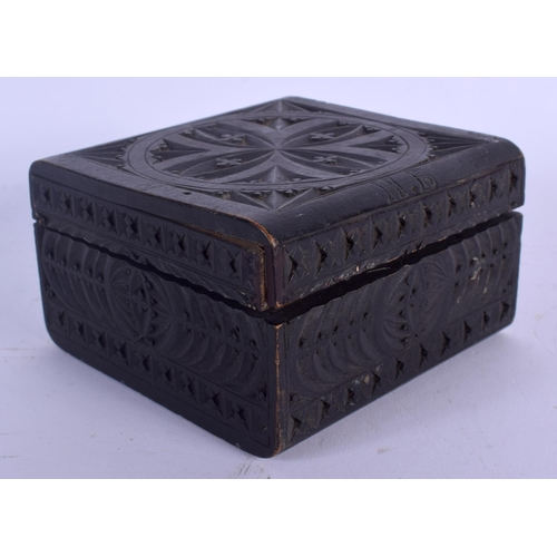 556 - AN ANTIQUE BOX containing antiquities. (4)...