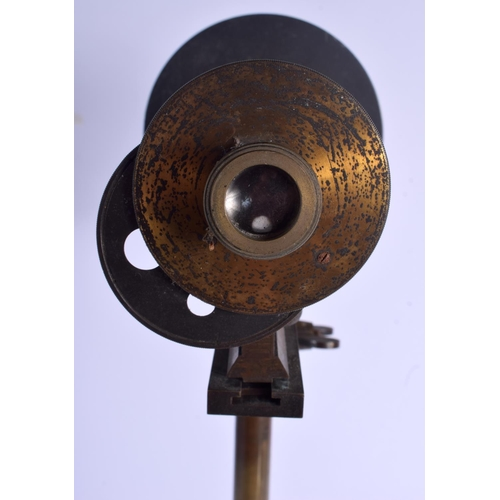 587 - AN UNUSUAL 19TH CENTURY FRENCH TELESCOPE possibly a range finder, of almost industrial form. 55 cm x...