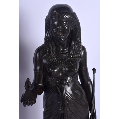 670 - Emile Picault (1833-1915) Bronze, The Pharaohs Gift & The Queens Offering. 46 cm high....