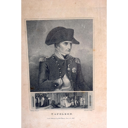 676 - AN ENGRAVING OF NAPOLEON together with two others. (3)...