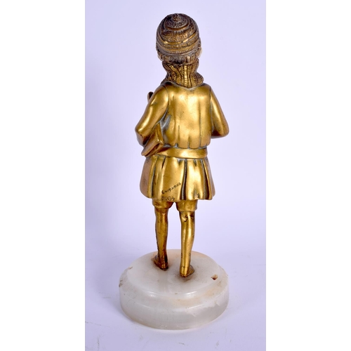 693 - Demetri Chiparus (1886-1947) Bronze and ivory, Standing girl. Bronze 18.5 cm high....