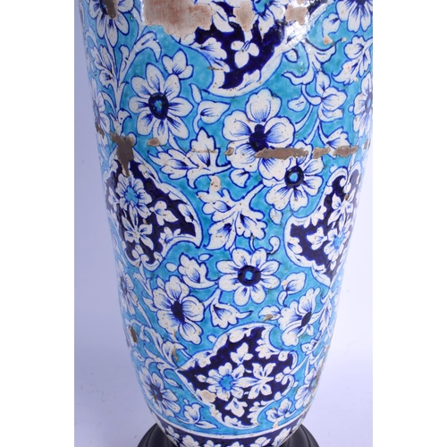 726 - A VERY LARGE 19TH CENTURY TURKISH MIDDLE EASTERN PERSIAN VASE painted with flowers. Vase 60 cm high....