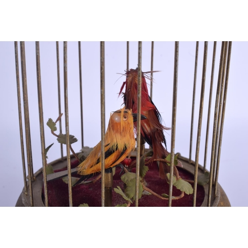 741 - A 1950S EUROPEAN SINGING BIRD CAGE. 27 cm high....