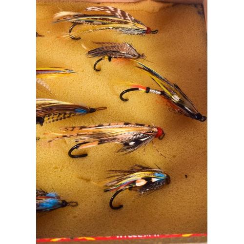 768 - A BOX OF VINTAGE FISHING FLIES. (qty)...