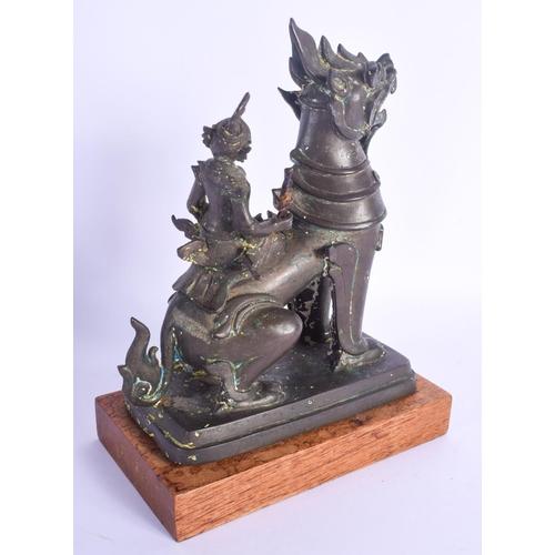 780 - A 19TH CENTURY INDIAN ASIAN HINDU BRONZE BUDDHISTIC FIGURE. Bronze 22 cm x 13 cm....
