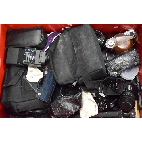830 - A LARGE COLLECTION OF VINTAGE CAMERAS and accessories. (qty)...