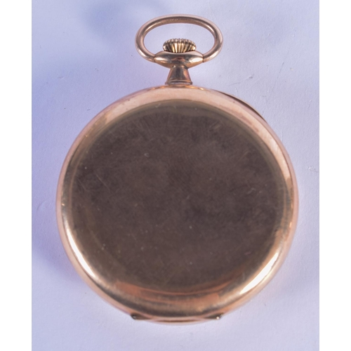 888 - A CASED 9CT GOLD POCKET WATCH. 68 grams overall. 4.5 cm diameter....