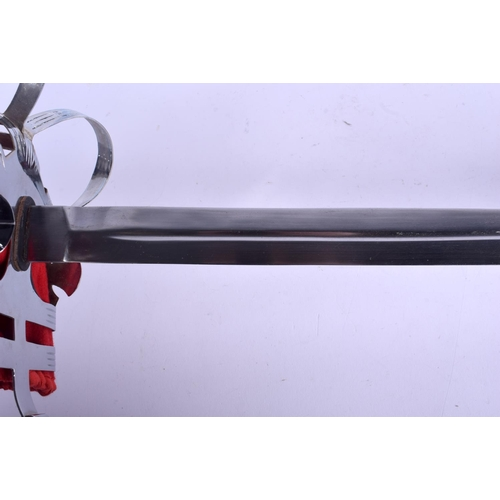 408 - A DRESS SWORD together with a sporran. Largest 102 cm long. (2)...