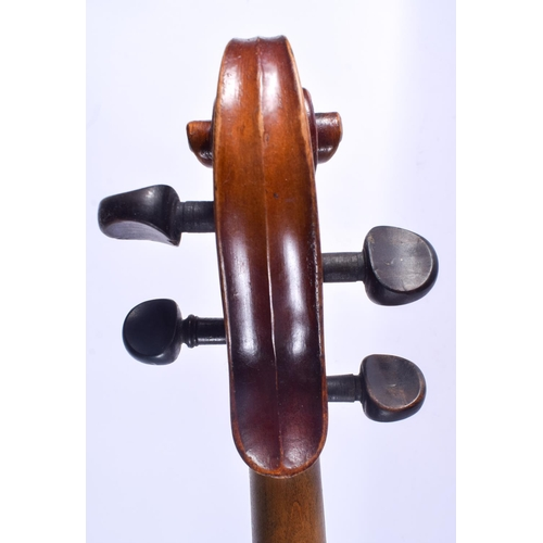 473 - A TWO PIECE BACK VIOLA bearing label to interior W Thompson Wembley. 65 cm long....