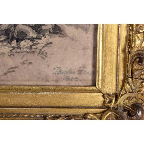 647 - European School (19th Century) Watercolour, fishing on the river. Image 21 cm x 16 cm....