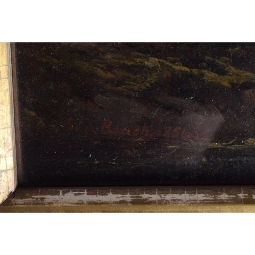648 - European School (18th Century) Oil on canvas, landscape. Image 30 cm x 22 cm....