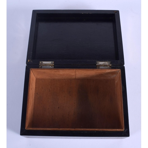 789 - A VERY RARE ART DECO LEATHER MOUNTED SILVER CIGARETTE BOX. Birmingham 1926. 366 grams overall. 12 cm...