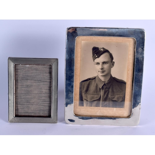 792 - TWO SILVER PHOTOGRAPH FRAMES. 400 grams overall. Largest 22 cm x 17 cm. (2)...