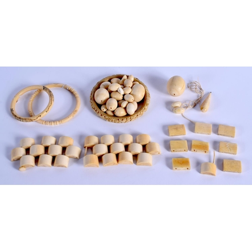 765 - ASSORTED CONTINENTAL ANTIQUE IVORY JEWELLERY. (qty)...