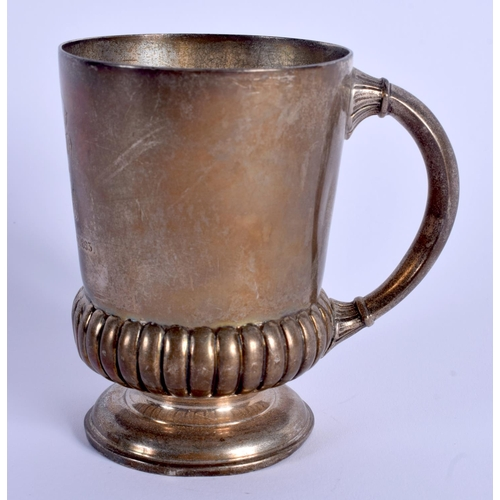 777 - AN ANTIQUE SILVER CHRISTENING MUG. London 1891. 161 grams. 10 cm high....