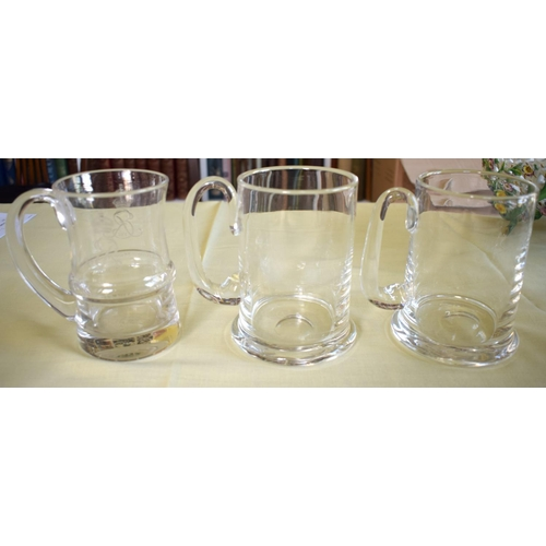 13 - AN UNUSUAL THOMAS GOODE & CO LIMITED EDITION CORONATION GOBLET together with six other crystal glass...
