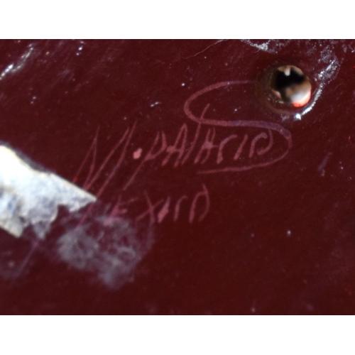 15 - A PAIR OF RETRO SOUTH AMERICAN MEXICAN PAPIER MACHE TOUCANS of naturalistic form. 18 cm x 18 cm.
