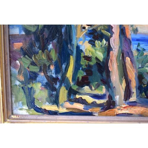 35 - Wilfrid Gabriel De Glehn (1870-1951) British, Oil on canvas, Isle of Wight. Image 77 cm x 55 cm.
