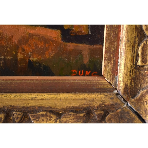 40 - Duke Woolley () Oil on canvas, View of Dordogne. Image 34 cm x 28 cm.