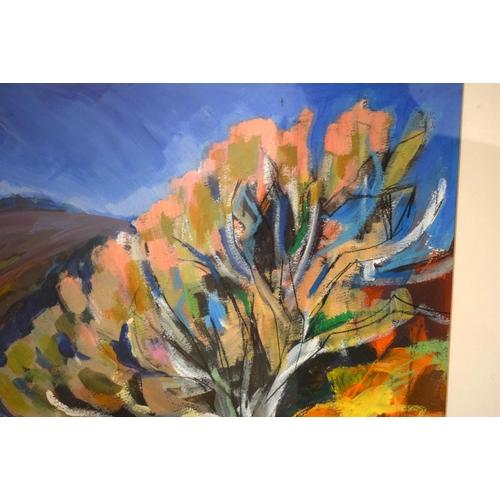 49 - Elizabeth MacDonnell (20th Century) Watercolour, Hot Cornish Landscape. Image 76 cm x 48 cm.