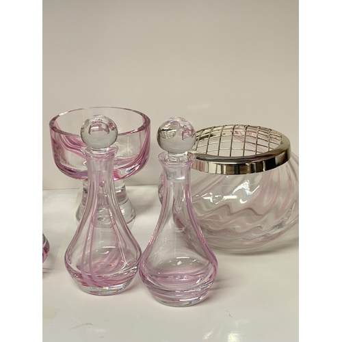 4 - 11 pieces of Caithness and other modern coloured glassware