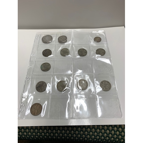 93 - Qty Coins 1890 Double Florin VF, 1936 Half Dollar VF, 10 Pre 47 Florins, 28 Pre 47 6d, 48 Pre 47 3d,...