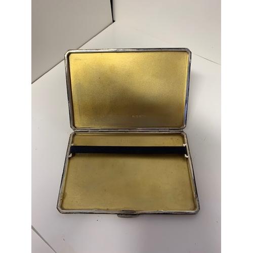 148 - A George V silver cigarette case, GHD Birmingham 1946 - 195 gms