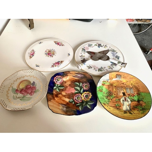 18 - Royal Worcester cake plate, Royal Worcester cake plate 'June Garland' and 2 servers, Royal Doulton '...