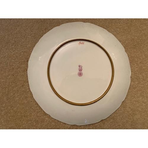 33 - One 23cm Royal Doulton Cabinet Fish Plate - Rudd - J. Birbeck Snr (1)